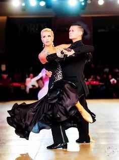 Charlene Proctor and Viktor Tkachenko dance the American Smooth Tango at the Millennium Dancesport Championship, Orlando, Florida, 2017.