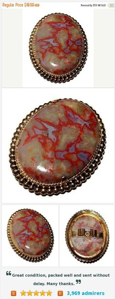 Agate Bolo Pendant Genuine Marbled Stone Material Red Blue Green Color Mens Jewelry Gold Metal 2 in Vintage https://www.etsy.com/listing/250656379/