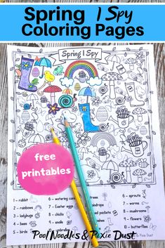 Free Spring I Spy Coloring Pages
