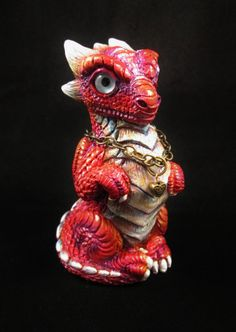 Dragon Sculpture Figurine Scarlet Flame Prince by TheDragonsHorde