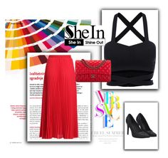 """Just red!"" by permalia ❤ liked on Polyvore featuring Chanel and Versace"