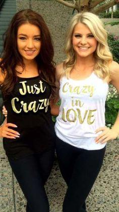 Indian bachelorette party ideas | Bachelorette T shirt ideas | crazy in love | just crazy