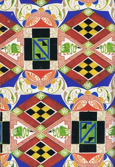 More amazing Leon Bakst designs via the link. (Музей рисунка - Лев Самойлович Бакст (1866–1924гг). Эскизы тканей.)