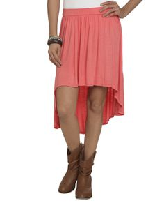 Coral High Low Skirt