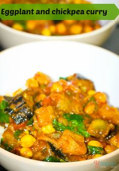 Eggplant and chick pea curry recipe Click to get it and make it!