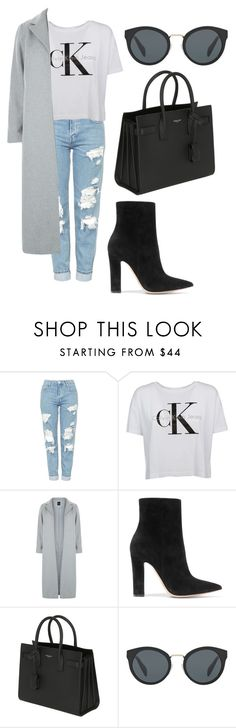 """street style"" by fashionblogger2122 on Polyvore featuring Topshop, Calvin Klein, New Look, Gianvito Rossi, Yves Saint Laurent and Prada"