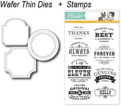 *Simon Says STAMPtember™ DIE & STAMPS SET APOTHECARY LABELS SetAL4