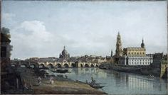 "Canaletto le Jeune (Bernardo Bellotto): ""Dresde seen from the right banks of the river Elbe below the bridge Augustus"""