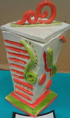 ceramic slab box  ~Smith Middle School, Miss Murphy