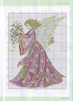 Thrilling Designing Your Own Cross Stitch Embroidery Patterns Ideas. Exhilarating Designing Your Own Cross Stitch Embroidery Patterns Ideas. Cross Stitch Fairy, Cross Stitch Angels, Cross Stitch Cards, Counted Cross Stitch Patterns, Cross Stitch Designs, Cross Stitching, Cross Stitch Embroidery, Embroidery Patterns, Stitch And Angel
