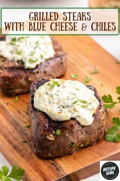 Meat Steak, How To Grill Steak, Grilling Recipes, Beef Recipes, Easy Recipes, Steak With Blue Cheese, Supper Recipes, Picnic Foods, Grilled Steaks