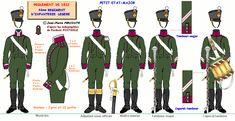 Fanteria leggera 4° Rgt. testa della colonna 1812