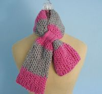double knit keyhole scarf - loom knitted
