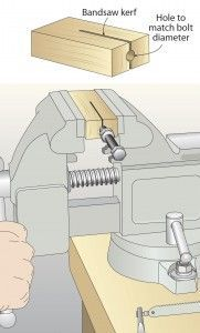 Cut bolts clean with no shredded threads Woodworking Furniture Plans, Woodworking Jigs, Woodworking Projects, Carpentry, Wood Projects, Projects To Try, Clever Inventions, Diy Garage, Garage Ideas