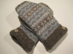 Marquette Wool Mittens  med/lg  MMC497 by MichMittensbyLauri, $23.00