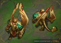 Warring Kingdoms Galio | League of Legends Skin Concept by Nicholas Oei