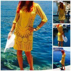 Crochet Cotton Lace Beach Dress Sexy Crochet by GalinaHandmade