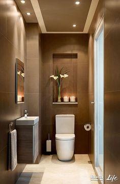 Washroom Design, Bathroom Design Luxury, Bathroom Layout, Modern Bathroom Design, Bathroom Ideas, Small Bathroom Plans, Small Bathroom Interior, White Bathroom, Bathroom Storage