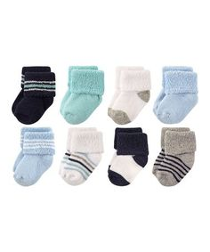 Polo Ralph Lauren Baby Boys Infant 6 Pair Ribbed Stripped Turncuff Socks