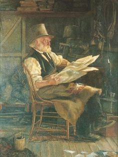 What a joy to see this Fredrick McCubbin's painting Old politician 1855-1879