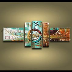 Hand-painted 5 piece modern abstract painting wall art interior stretched Source by linnkarla Abstract Painting Techniques, Modern Oil Painting, Hand Painting Art, Oil Painting On Canvas, Art Paintings, Modern Canvas Art, Contemporary Wall Art, Abstract Canvas, Panel Wall Art
