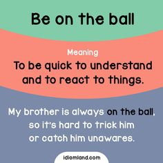 Are you on the ball today?