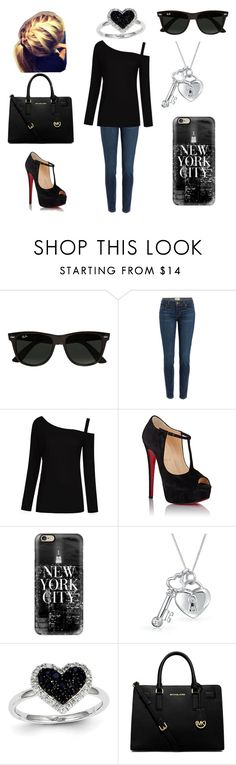 """""""Untitled #108"""" by a-hidden-secret ❤ liked on Polyvore featuring Ray-Ban, Paige Denim, Christian Louboutin, Casetify, Bling Jewelry, Kevin Jewelers and Michael Kors"""