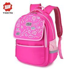 Tigernu School Bags Girls Boys Bookbags Kids Backpacks Men Waterproof Pink  Blue cdc1e59915e32