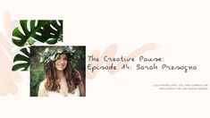 The Creative Pause is a video series hosted by Stacey Fay and Susan Padron. In a time of solitude and fear, we are cultivating joy, love and connection. Wild Flowers, Spirituality, In This Moment, Creative, Youtube, Instagram, Spiritual, Youtubers, Wildflowers