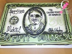 Money birthday cake Money Birthday Cake, Money Cake, It's Your Birthday, Cake Decorating, Decorating Ideas, Vintage Cakes, Personalized Items