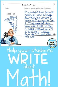 Do you want your students to become better problem solvers? Getting them writing about math! This blog post contains 4 easy ways to help your students write about math.