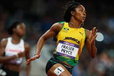 ... Shelly-Ann Fraser-Pryce in the 200m at the London 2012 Olympic Games (