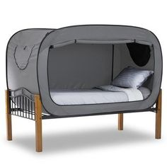 Bed tent provides a secluded environment during nap time,  playtime, or alone time in shared bedrooms or dorm rooms. Nice for PCS!