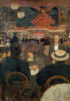 The Moulin Rouge and Place Blanche,The Cafe Terrace -  Pierre Bonnard 1896 Toulouse, Bamberg Foundation Source:http://voyageursaparistome18.unblog.fr/