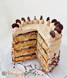 Tort cu banane ciocolata si Nutella Easy Cake Recipes, Baking Recipes, Cookie Recipes, Dessert Recipes, Nutella Chocolate Cake, Nutella Recipes, Pastry Cake, Cake Flavors, Cake Shop