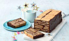 Kalter Hund Rezepte: Der Klassiker Kalte Schnauze mit viel Schokolade und Butterkeksen schmeckt nicht nur zum Kindergeburtstag. - Eins von 7.000 leckeren, gelingsicheren Rezepten von Dr. Oetker! Buffet, Deserts, Food And Drink, Sweets, Cheese, Snacks, Cookies, Cake, Recipes