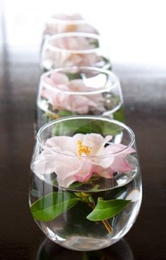 Floating Camelia Flowers Centerpiece