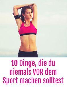 Vor dem Sport: 10 Fehler, die du nicht VOR dem Workout machen