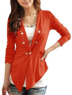 Allegra K Ladies Chic Long Sleeve Double-Breasted Front Solid Color Cardigan Allegra K http://smile.amazon.com/dp/B00DCAT1FK/ref=cm_sw_r_pi_dp_Wuy7tb1BDVKBM