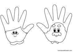 Nonni realizzati con le sagome delle mani. Idea da tenere presente come lavoretto per la Festa dei nonni. LAVORETTO FESTA DEI NONNI Materiale: cartoncini c