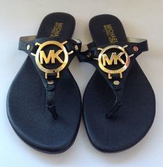 Michael Kors Melodie Thong Black Size 5 Sandals