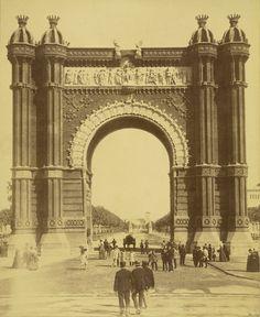 #Barcelona 1888 Universal Exhibition. Triumphal Arch http://johost.eu/vol6_fall_2012/agusti_galan.htm