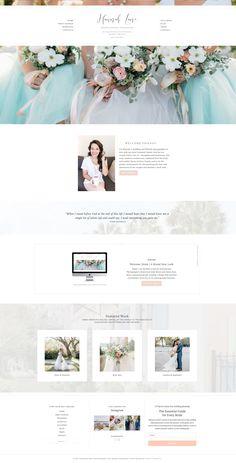 Custom WordPress website design for wedding photographer Hannah Lane | Davey & Krista