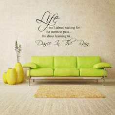 LIFE RAIN STORM WALL ART QUOTE STICKER - BEDROOM LOUNGE LOVE VINYL DECAL in Home, Furniture & DIY, Home Decor, Wall Decals & Stickers   eBay