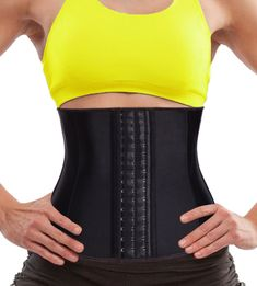 808a0a6f7e Eleady Women Latex Waist Trainer Underbust Corset Steel Boned Sport Cincher  Body Shaper for Weight Loss