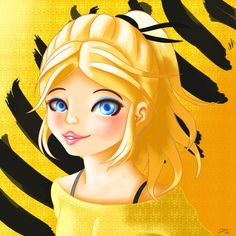 ChloYes! I've managed to draw Chloe (in her usual hairdo) successfully! I did had some trouble drawing her hair, managed to draw it right after two days. Of course, yellow (and black) would be her color scheme!Looking forward to Chloe as the Bee!