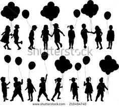 Find balloon girl silhouettes vector stock images in HD and millions of other royalty-free stock photos, illustrations and vectors in the Shutterstock collection. Silhouette Clip Art, Girl Silhouette, Pyrography Patterns, Black Figure, People Figures, Illustrations, Art Plastique, Pattern Drawing, Yard Art