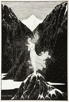 The Fairy of the Snow by Francis James Finn Illustration by Ida Rentoul Outhwaite Fantasy Kunst, Fantasy Art, Art Magique, Alphonse Mucha, Children's Book Illustration, Fairy Tale Illustrations, Art Plastique, Art Inspo, Fairy Tales