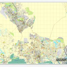PDF Map Of Hampton Roads Virginia US Printable Vector Street - Us map virginia