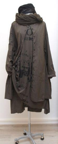 rundholz dip - Riesenhemd Kümmel print filz - Winter 2015 - stilecht - mode für frauen mit format...